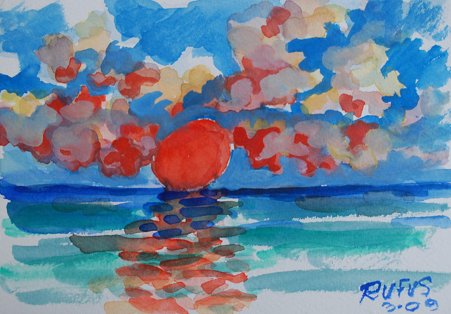 Sun Painting - Caribe Sunset by Rufus Norman