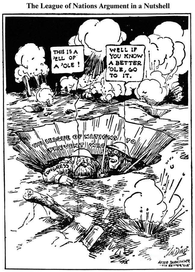 1919 Photograph - Cartoon: League Of Nations by Granger