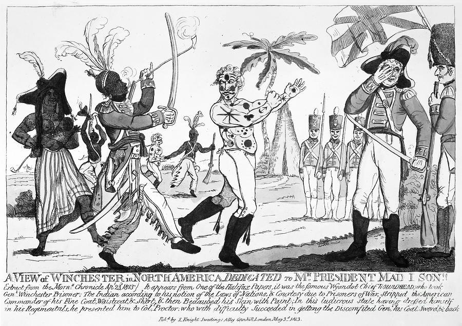 Cartoon War Of 1812 Photograph By Granger