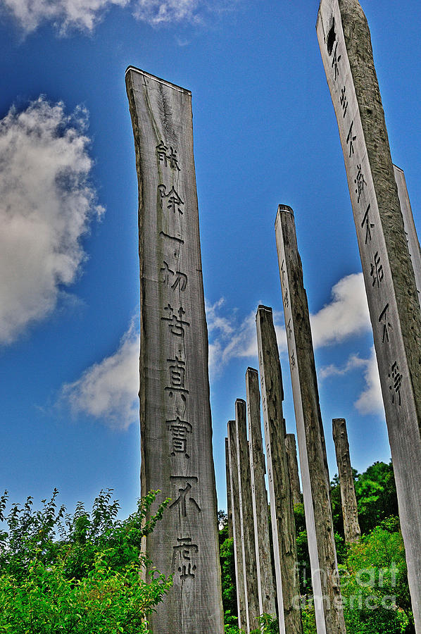 Buddhism Photograph - Carvings Of Buddhist Teachings by Joe  Ng