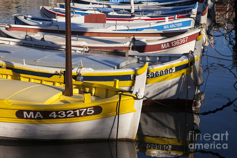 Boating Photograph - Cassis Boats by Brian Jannsen