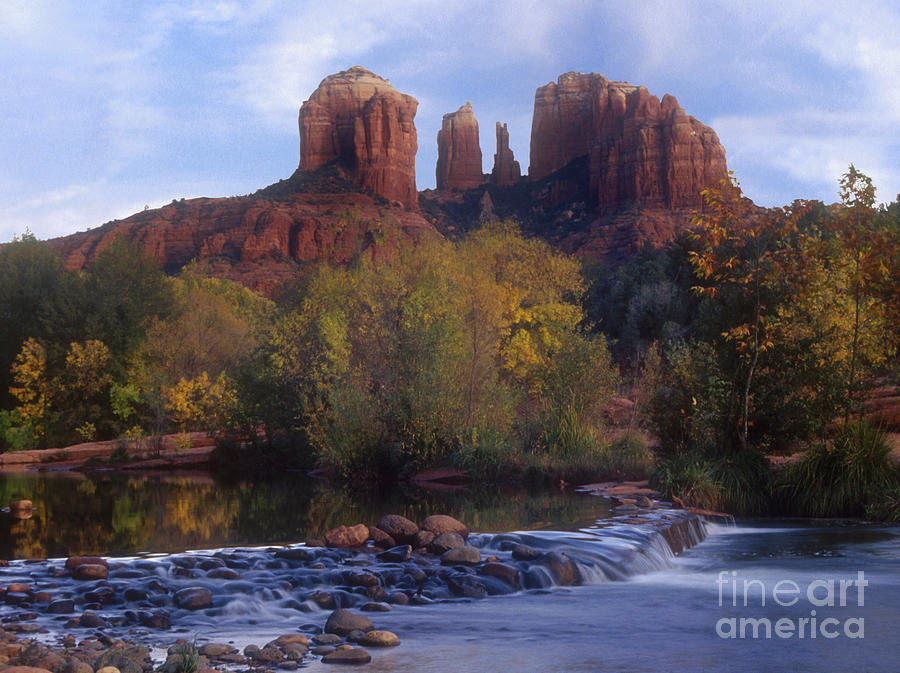 River Photograph - Cathedral Rock by Darleen Stry