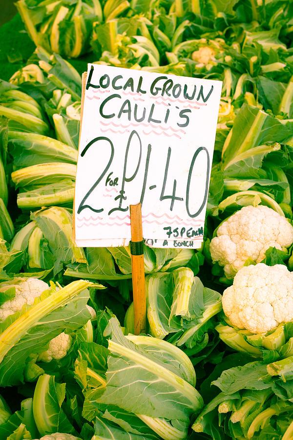 Abundance Photograph - Cauliflower by Tom Gowanlock