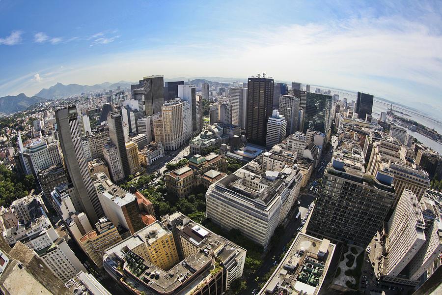 Horizontal Photograph - Centro Do Rio De Janeiro - Rio De Janeiro Downtown by Ruy Barbosa Pinto