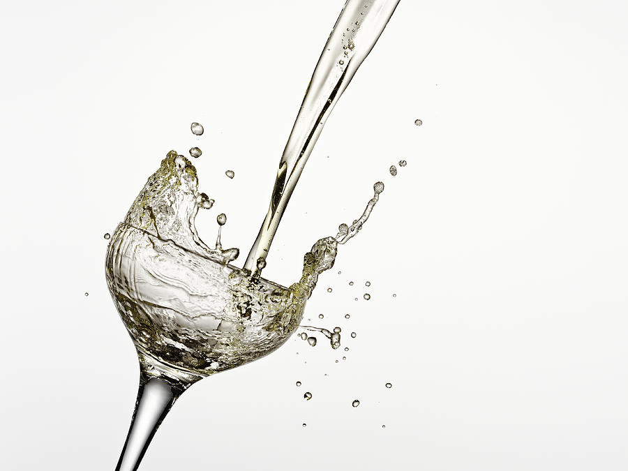 Horizontal Photograph - Champagne Being Poured Into Glass by Andy Roberts