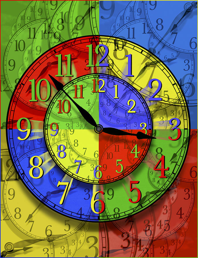 Clock Faces Photograph - Changing Times by Mike McGlothlen