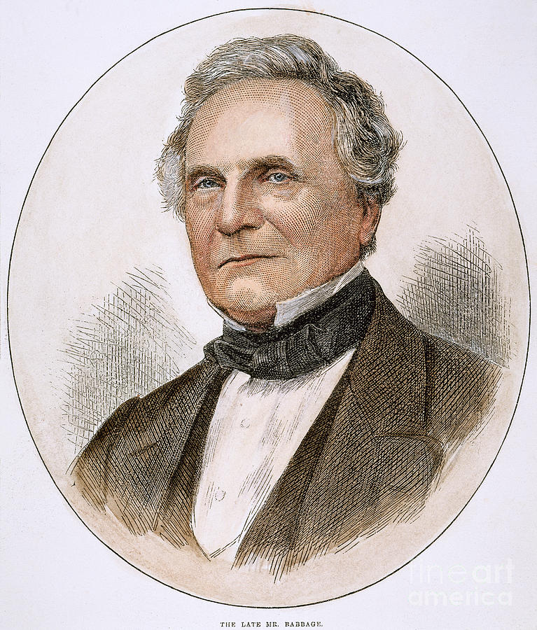 Charles Babbage 1792 1871 Photograph By Granger