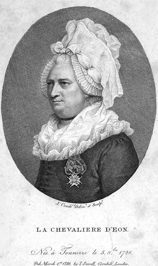 1791 Photograph - Charles Deon De Beaumont by Granger
