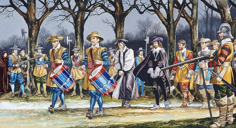 Soldiers Painting - Charles Is Last Walk by Ron Embleton