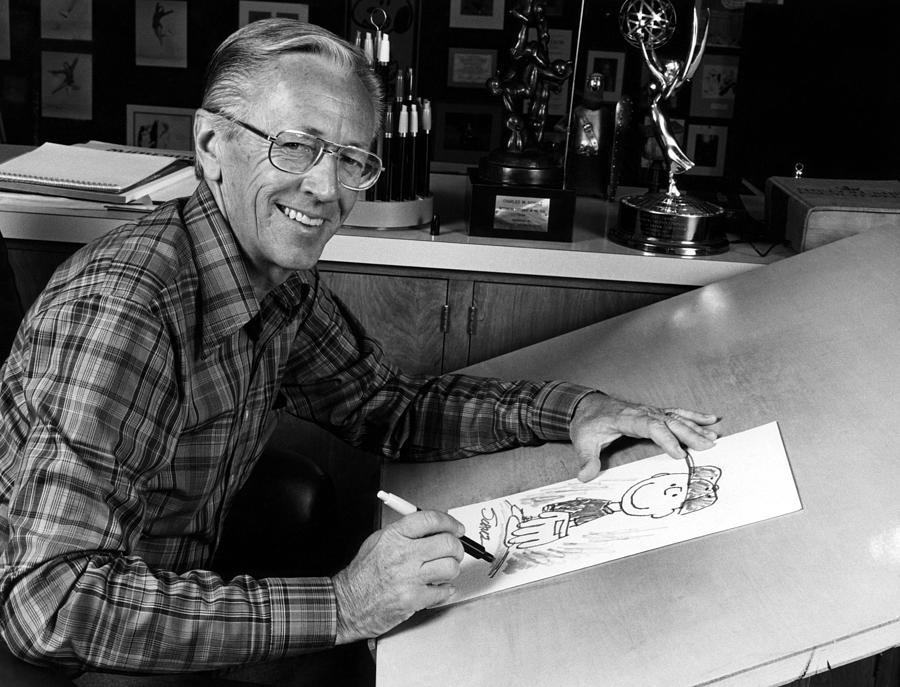 1970s Portraits Photograph - Charles M. Schulz, 1922-2000, American by Everett