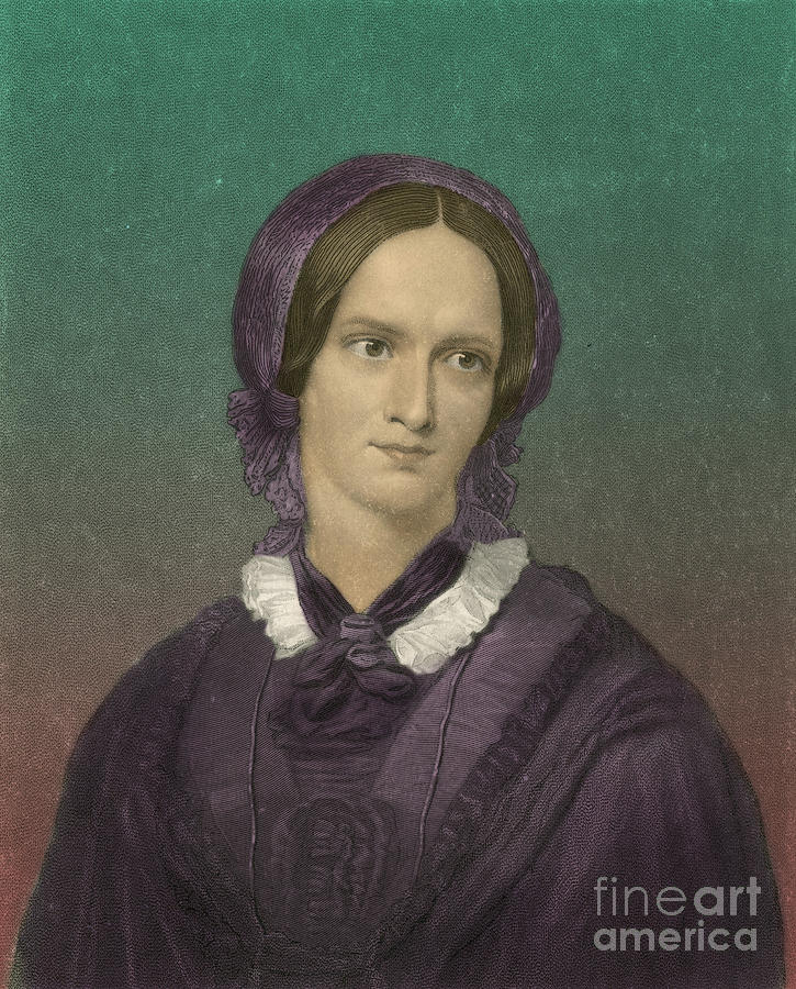 Charlotte Bronte Photograph - Charlotte Bronte, English Author by Photo Researchers