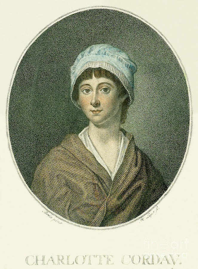 18th Century Photograph - Charlotte Corday by Granger
