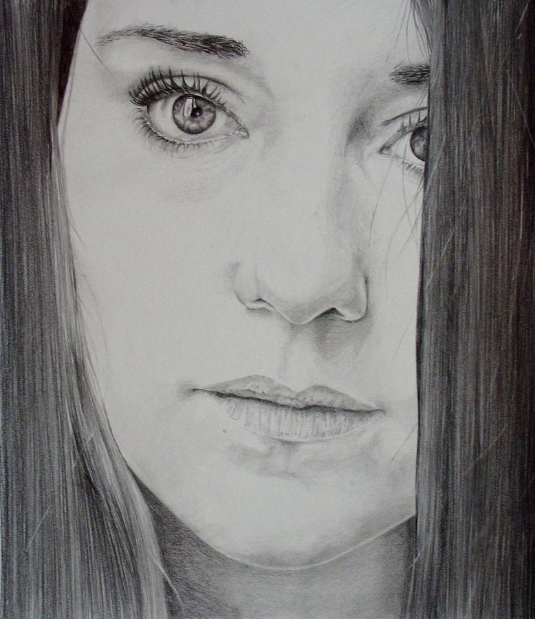 Girl Drawing - Charlotte by Monique Geurts