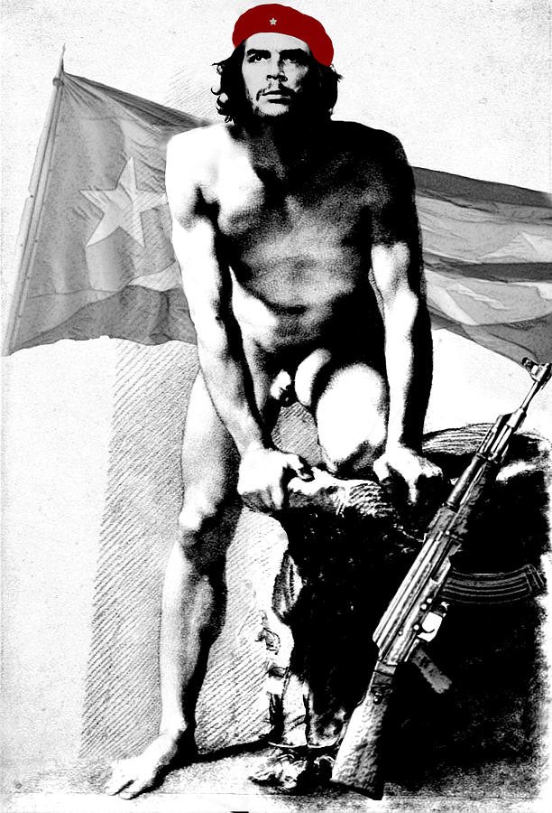 Che Guevara Digital Art - Che Guevara Nude by Karine Percheron-Daniels