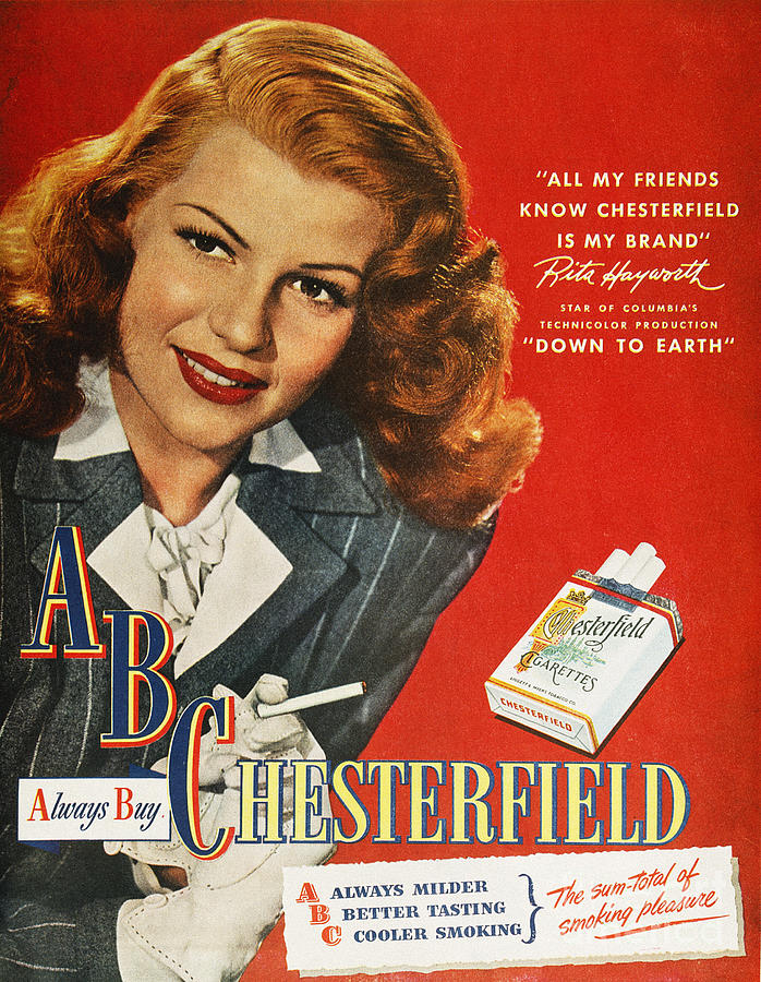 1947 Photograph - Chesterfield Cigarette Ad by Granger