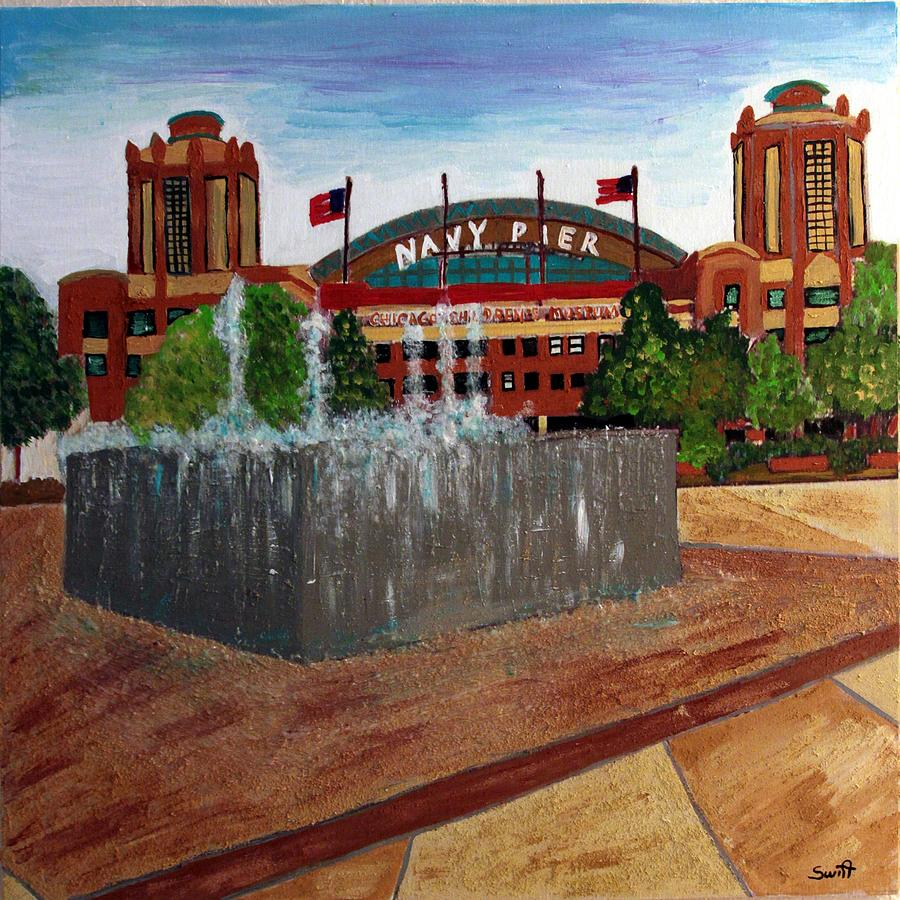 Chicago Painting - Chicago Navy Pier by Char Swift