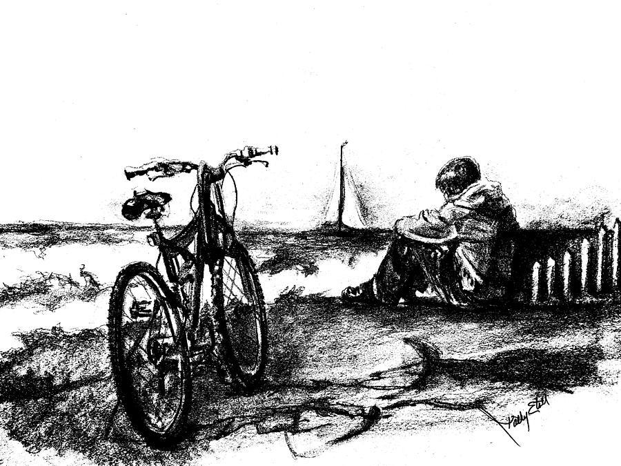 Chillin Drawing by Kathy Etoll-Throckmorton