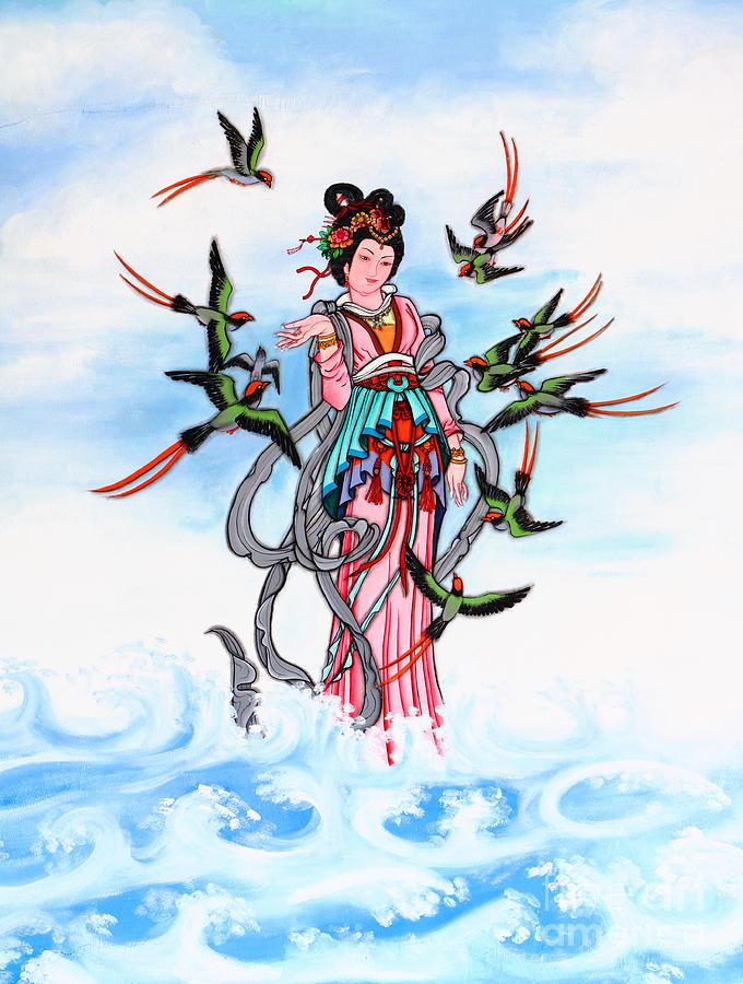 Ancient Painting - Chinese Painting  by Phalakon Jaisangat