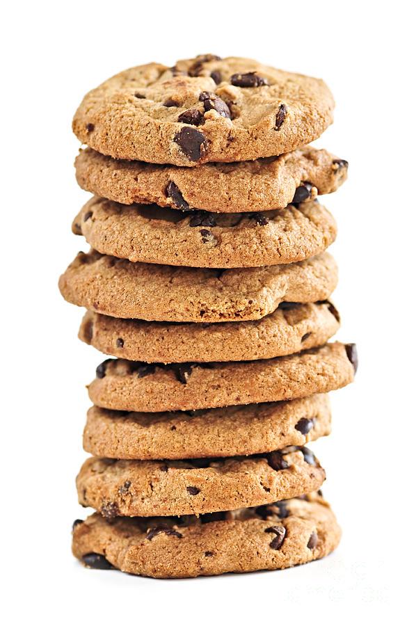 Cookies Photograph - Chocolate Chip Cookies by Elena Elisseeva