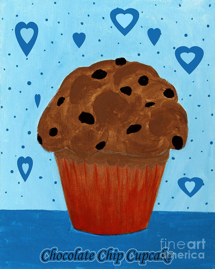 Chocolate Painting - Chocolate Chip Cupcake by Barbara Griffin