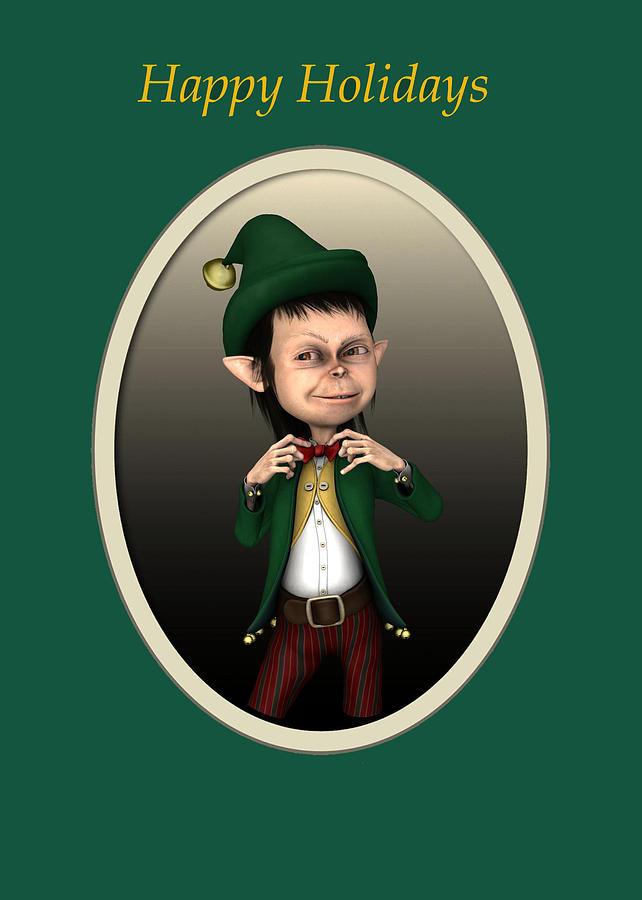 Christmas Elf Digital Art - Christmas Elf by John Junek