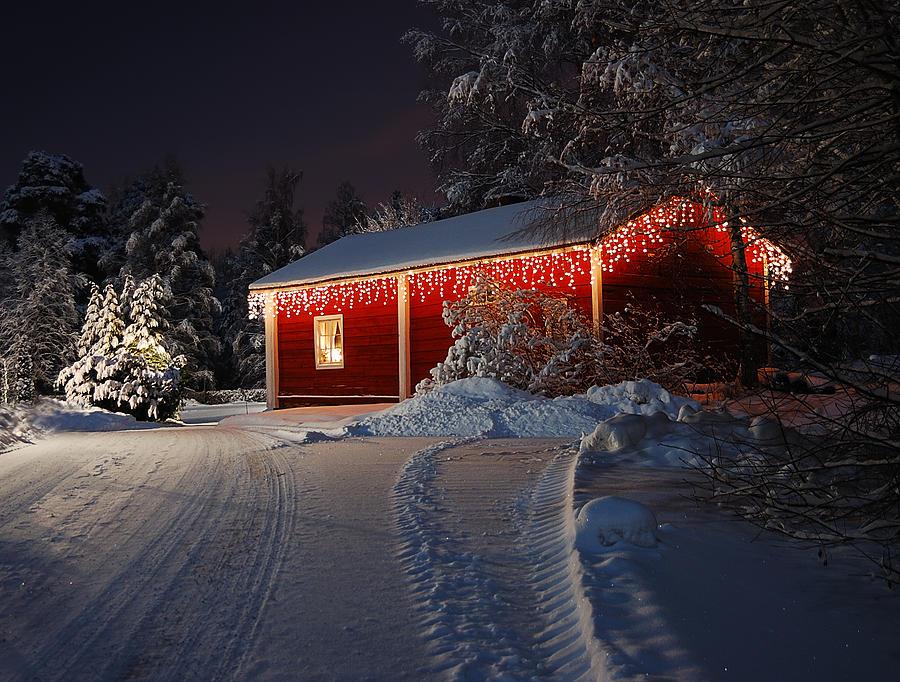 Christmas Photograph - Christmas House  by Roman Rodionov