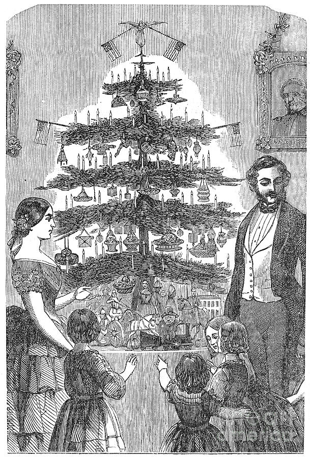1864 Photograph - Christmas Tree, 1864 by Granger