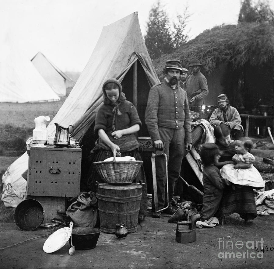 Civil War Camp Life 1861 Photograph By Granger