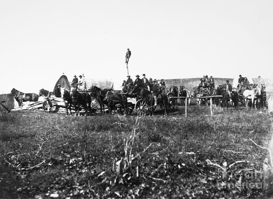 1864 Photograph - Civil War: Telegraph, 1864 by Granger