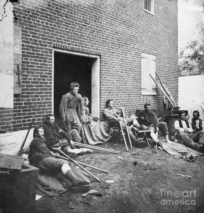 1864 Photograph - Civil War: Wounded, 1864 by Granger
