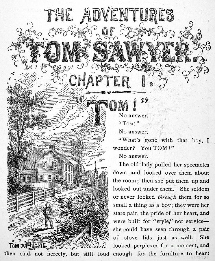 1876 Photograph - Clemens: Tom Sawyer by Granger