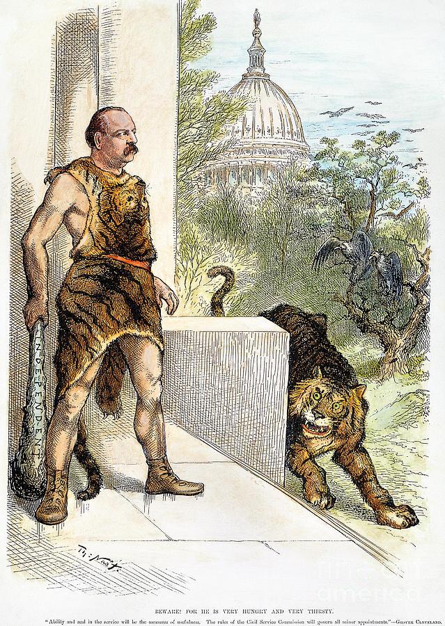 1884 Photograph - Cleveland Cartoon, 1884 by Granger