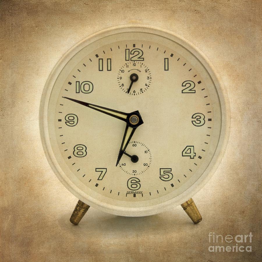 Waking Photograph - Clock by Bernard Jaubert