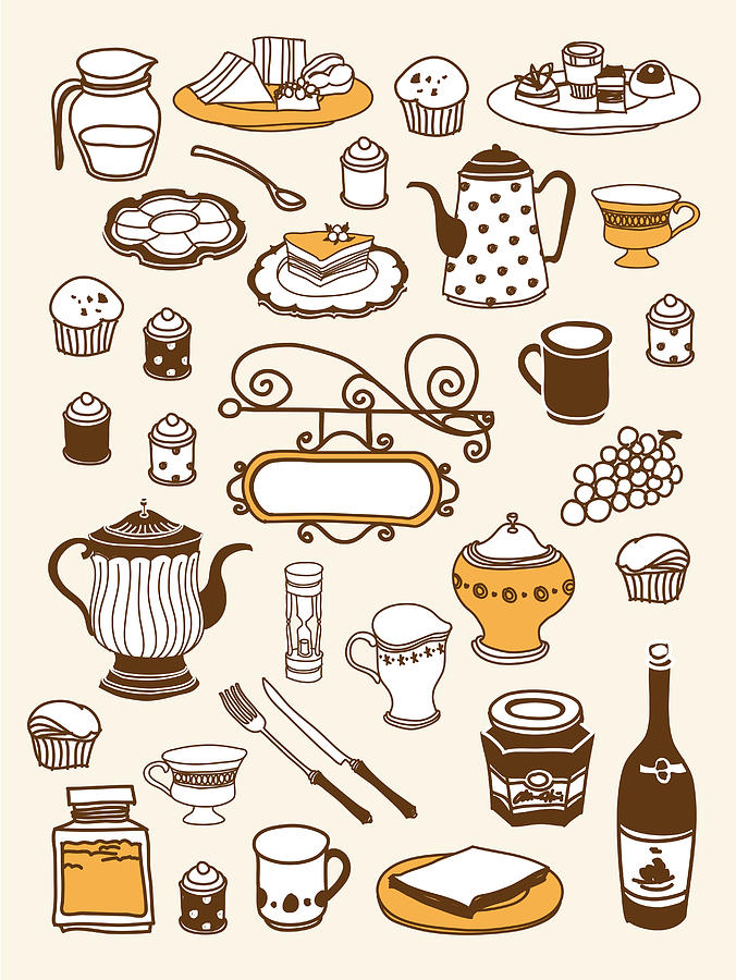 Vertical Digital Art - Close-up Of Food Stuff by Eastnine Inc.