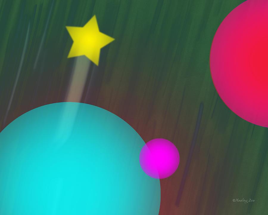 Digital Art Digital Art - Cmyk Spheres by Xueling Zou