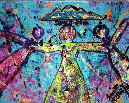 Women Painting - Coca Summit 2012 by Annette McElhiney