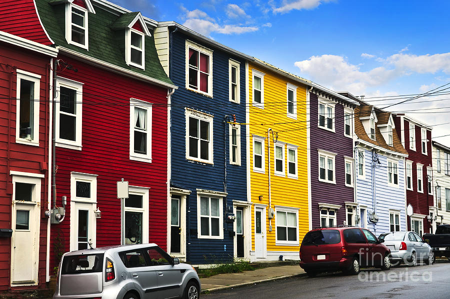 Colorful houses in st john 39 s newfoundland photograph by for Newfoundland houses