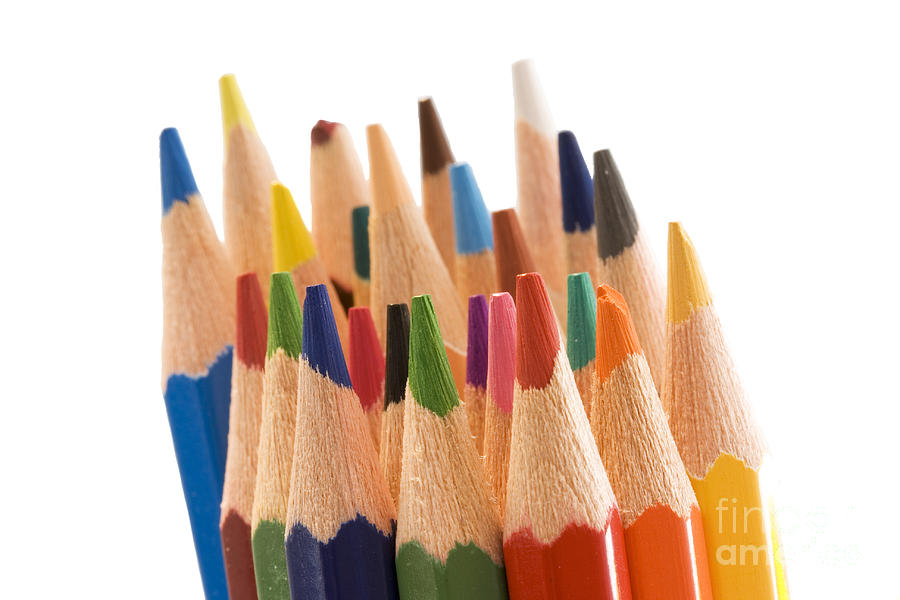 Color Pyrography - Colorful Pencils by Soultana Koleska