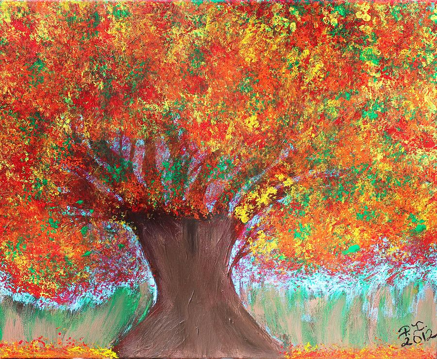 Tree Painting - Colors Of Fall by Paulette Ingersoll