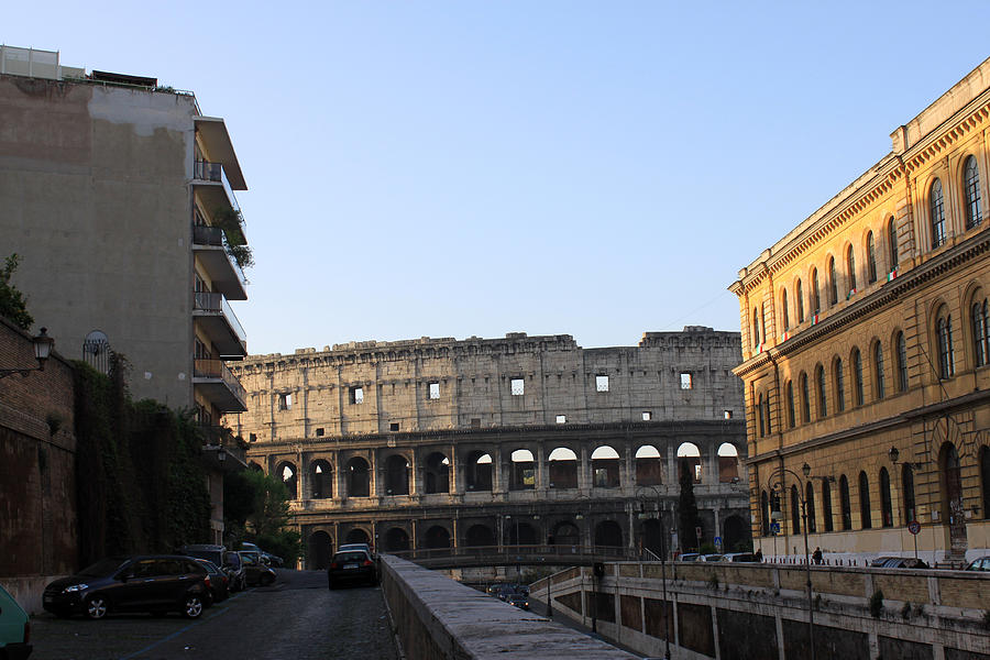 Colosseum Photograph - Colosseum Early Morning  by Munir Alawi