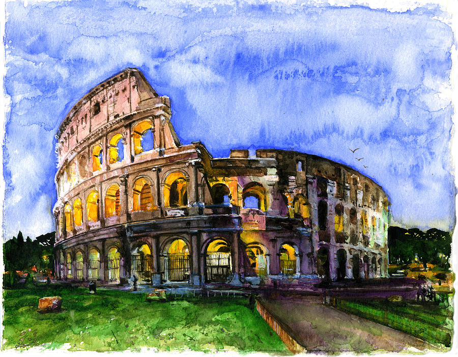 Colosseum Painting by John D Benson