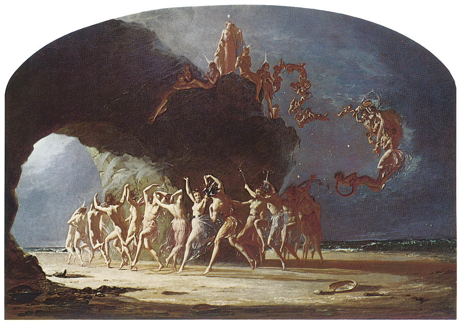 Come Unto These Yellow Sands Painting By Richard Dadd