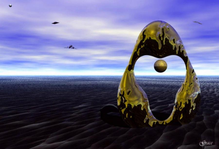 Fantasy Digital Art - Coming Back For The Treasure by Julie Grace