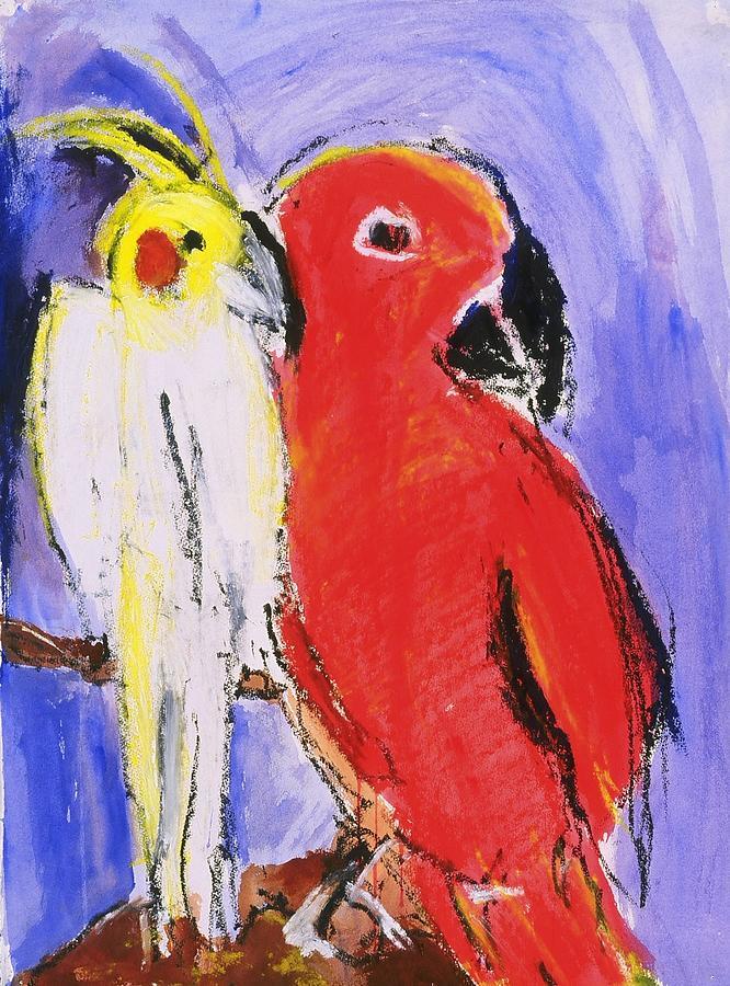 Bird Painting - Companion by Iris Gill