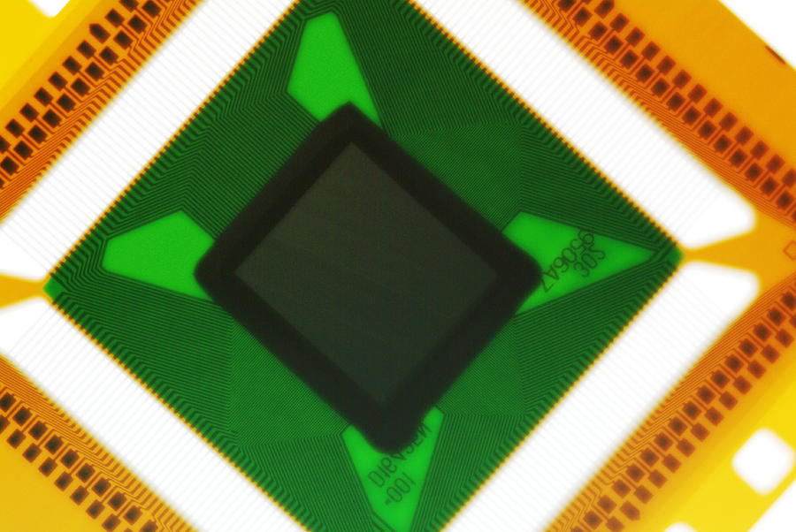 Microchip Photograph - Computer Microchip by Pasieka