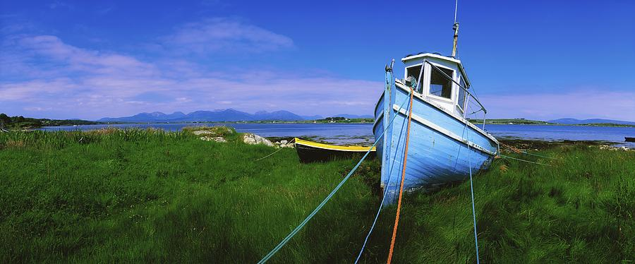 Horizontally Photograph - Connemara, Co Galway, Ireland Fishing by The Irish Image Collection