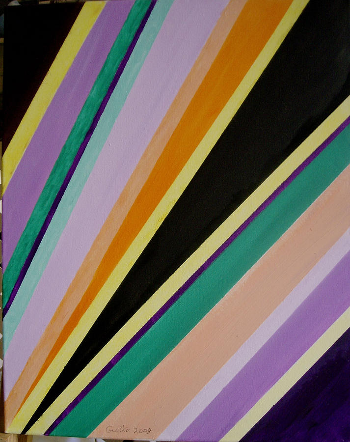 Converging Triangles Painting by Harris Gulko