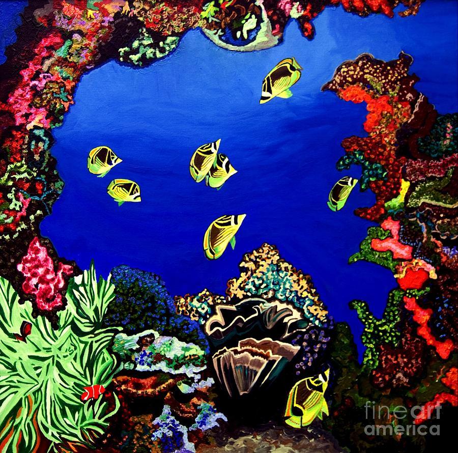Coral Reef Painting by Brenda Marik-schmidt