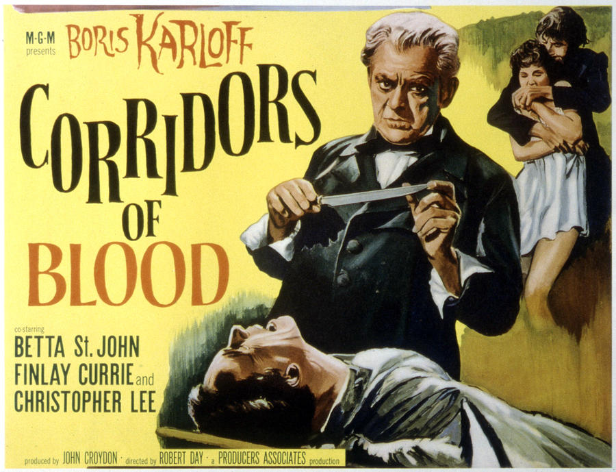 Boris Photograph - Corridors Of Blood, Boris Karloff, 1958 by Everett