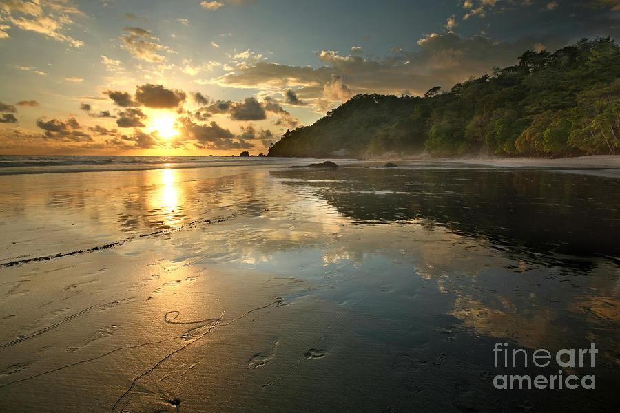 Beach Photograph - Costa Rican Beach at Sunset by Matt Tilghman